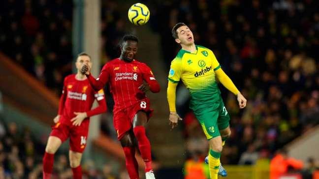 Norwich e Liverpool enfrentam-se pela Copa da Liga Inglesa (Foto: Divulgação / Twitter Liverpool)