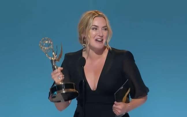 """Kate Winslet venceu como melhor atriz de série dramática por """"Mare of Easttown"""""""
