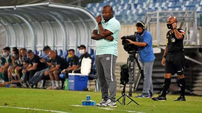 Marcão, durante o empate entre Fluminense e Cuiabá, na Arena Pantanal (Foto: Mailson Santana/Fluminense FC)