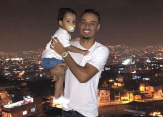 Luiz Henrique com o filho (Foto: Arquivo pessoal)