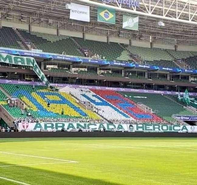 O Allianz Parque não vai ter torcida nesta terça-feira no jogo entre Palmeiras e Atlético-MG pelo primeiro jogo da semifinal da Libertadores (Foto: Divulgação)