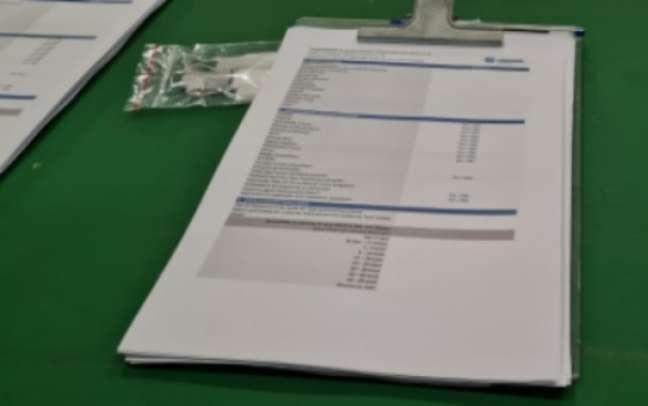 Formulário da Conmebol sobre a Covid-19 (Foto: Gabriel Santos)