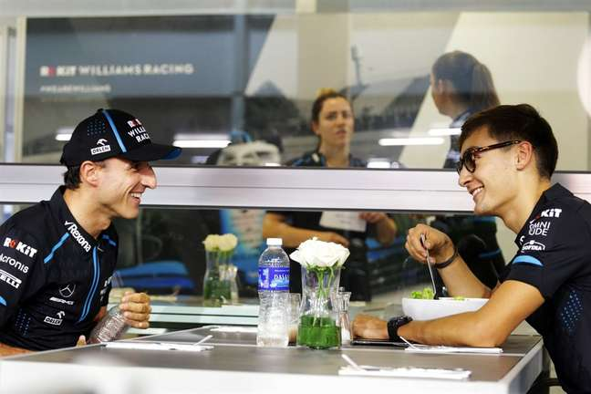 Kubica e Russell nos tempos de Williams