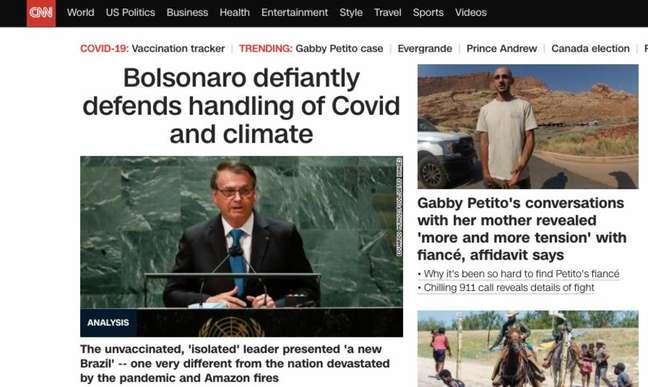 CNN internacional repercute discurso deBolsonaro na ONU