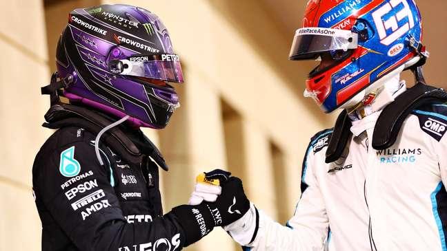 A Mercedes está atenta para a relação entre Hamilton e Russell em 2022
