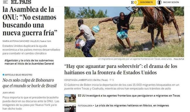 Jornal espanhol El País deixa artigo sbre postura de Bolsonaro em NY em destaque