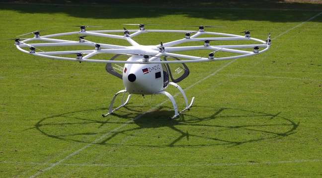 Protótipo de aeronave elétrica de pouso e decolagem verticais. 14/9/2019.  REUTERS/Michael Dalder