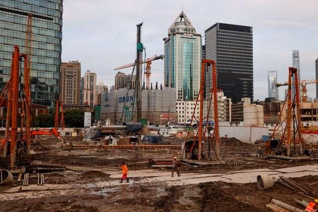 Construção em Xangai, China 12/07/2021.  REUTERS/Aly Song