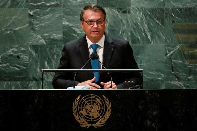 Presidente Jair Bolsonaro faz discurso de abertura da Assembleia-Geral da ONU