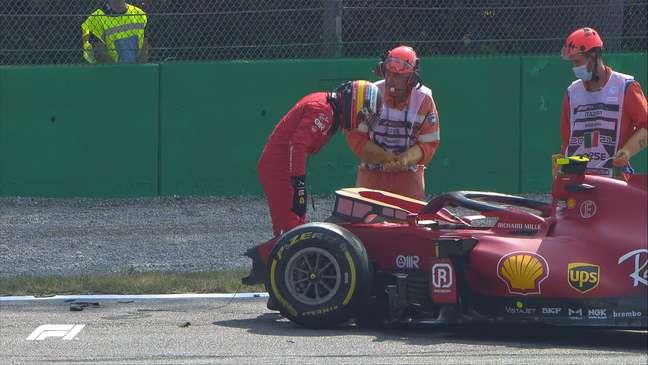 Carlos Sainz sofreu seu terceiro acidente nos últimos finais de semana de GP