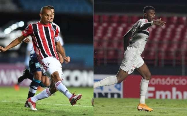 Miranda e Arboleda podem formar dupla de zaga (Fotos: Staff Images / CONMEBOL e Rubens Chiri / saopaulofc.net)