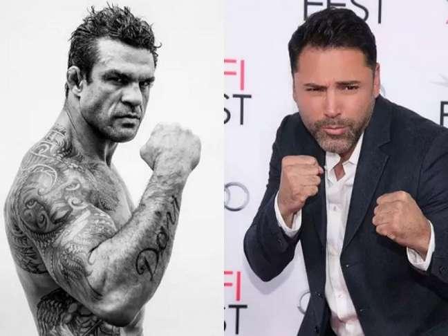 Duelo entre Vitor Belfort e Oscar De La Hoya deve ser remarcado para novembro (Foto: Reprodução)