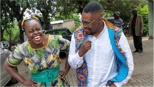 Muvumbi seen here with her anchor partner, Mzu Nyamekela Nhlabatsi