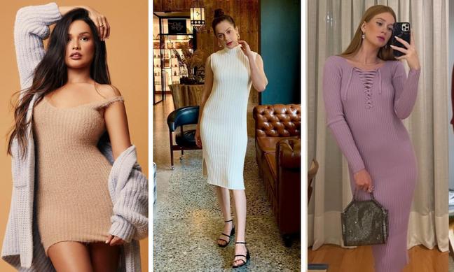 Famosas de vestido canelado (Fotos: Instagram/Reprodução)