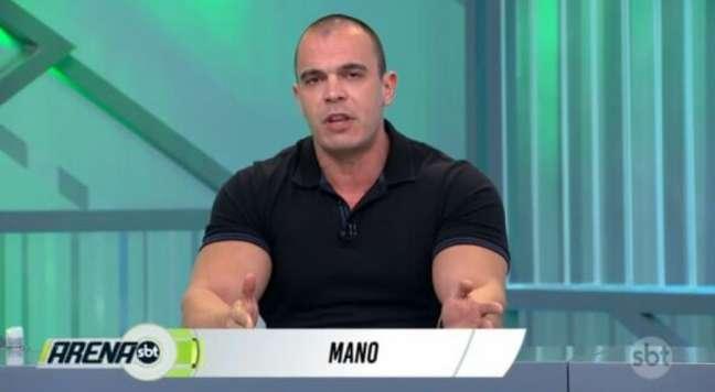 Mano é comentarista do Arena SBT (Reprodução/SBT)