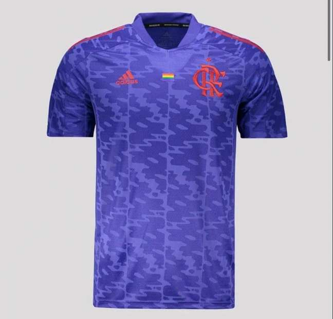 Nova camisa do Flamengo em apoio ao movimento LGBTQIA + (Foto: Reprodução)