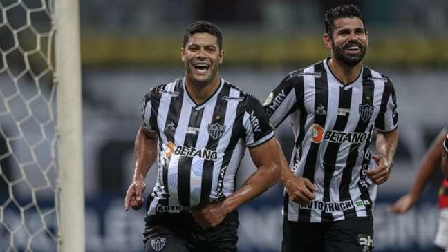 Hulk e Diego Costa são estrelas do Galo na busca pelo bi da Libertadores (Pedro Souza / Atlético)