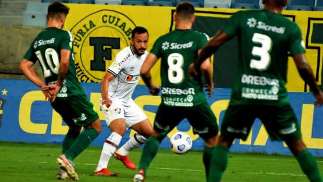 Yago Felipe questionou gol do Fluminense anulado pela arbitragem (MAILSON SANTANA/FLUMINENSE FC)