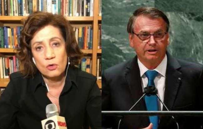 Miriam Leitão lamentou a situação que o presidente Jair Bolsonaro coloca o Brasil frente ao restante do mundo