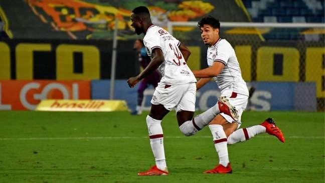 Luiz Henrique fez o primeiro gol do Fluminense contra o Cuiabá, no Brasileiro (Foto: Mailson Santana/Fluminense FC)
