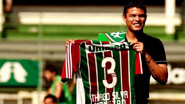 Thiago Silva foi campeão da Copa do Brasil pelo Fluminense (Foto: Nelson Perez / Fluminense)