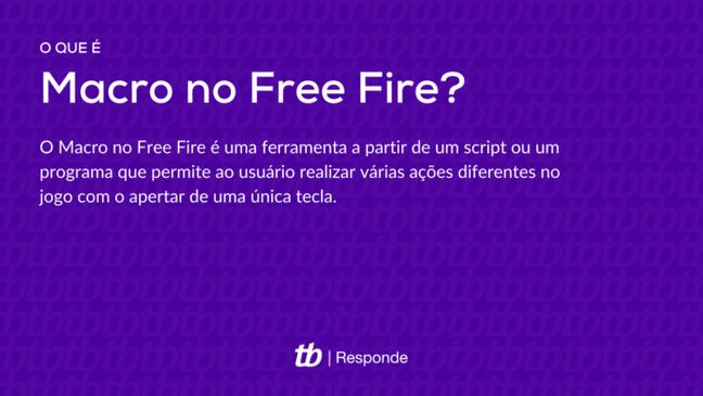 O Macro ajuda o jogador em Free Fire
