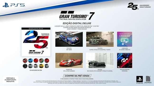Gran Turismo 7 ganha edição de 25 anos