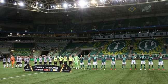 Palmeiras e Atlético Mineiro empataram sem gols pelo primeiro jogo da semifinal da Libertadores (Foto: Cesar Greco)