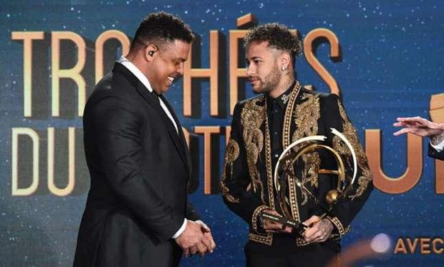 Ronaldo Fenômeno e Neymar (Foto: Franck Fife / AFP)