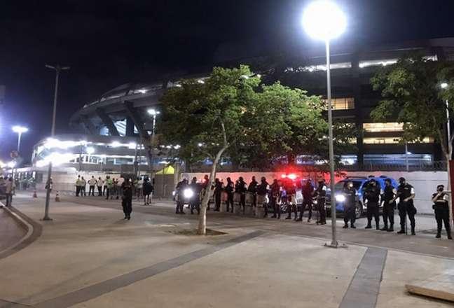 Em partida contra o Grêmio pela Copa do Brasil, o Maracanã também recebeu protocolo especial (Foto: Matheus Dantas/LANCE!)