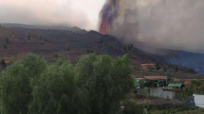 Deslizamento do magma afetou área de 350 hectares de plantio de banana-da-terra