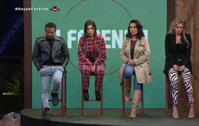 Participantes Nego do Borel, Liziane Gutierrez, Solange Gomes e Erika Schneider