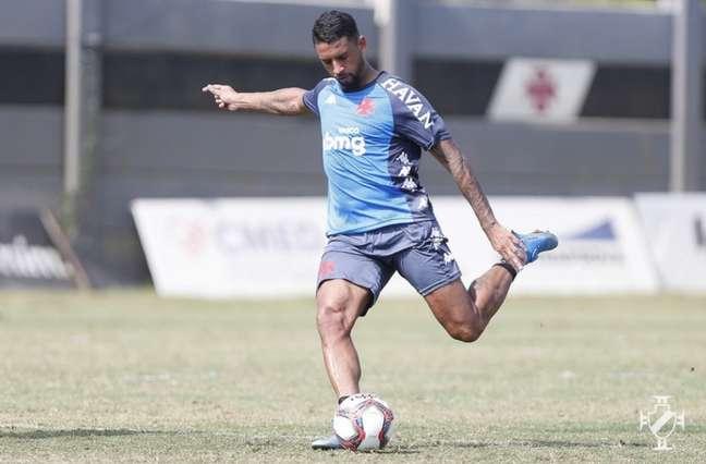 Michel fez sete jogos desde que chegou ao Vasco, mas enfrenta problemas no joelho esquerdo (Rafael Ribeiro/Vasco)