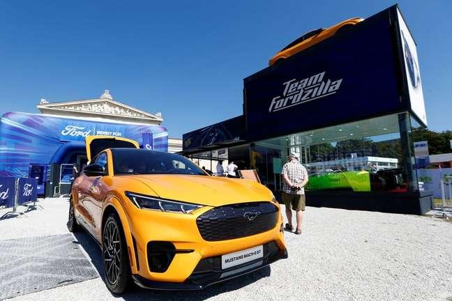 Veículo elétrico Ford Mustang Mach-E GT. 8/9/2021. REUTERS/Michaela Rehle