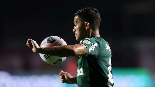 Dudu pela Libertadores (Foto: Cesar Greco/Palmeiras)