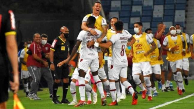 Luiz Henrique comemora gol (Foto: Mailson Santana/Fluminense FC)