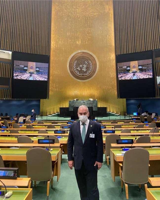 Queiroga esteve com o presidente Jair Bolsonaro no plenário da Organização das Nações Unidas nesta terça-feira, 21.