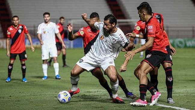 Fluminense perdeu para o Atlético-GO no primeiro turno do Brasileirão (Foto: Lucas Merçon/Fluminense FC)