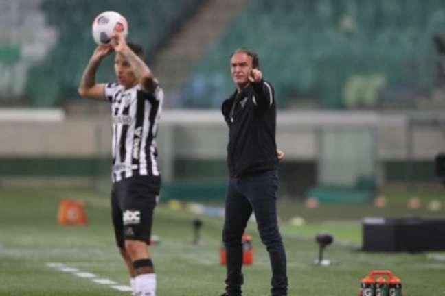 Cuca elogiou o Galo e mesmo com o empate sem gols, achou quefoi o resultado foi bom-(Pedro Souza/Atlético-MG)