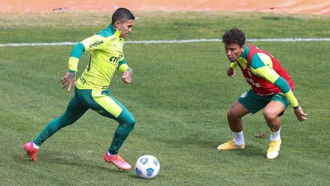 Dudu não gostou de sair no duelo contra o Atlético-MG pela Libertadores (FOTO: Cesar Greco)