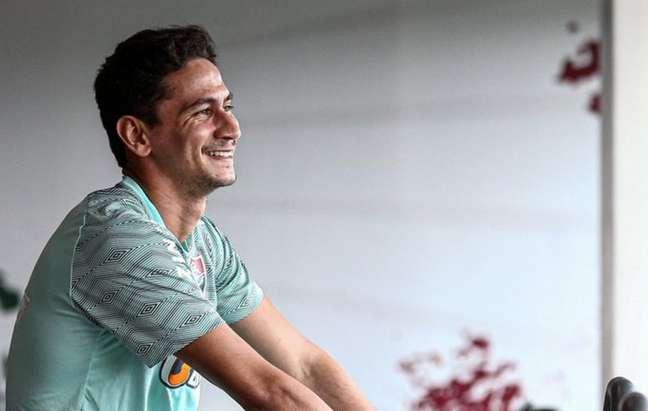 Ganso treinou no CT do Fluminense pela primeira vez desde a lesão (Foto: Lucas Merçon/FFC)