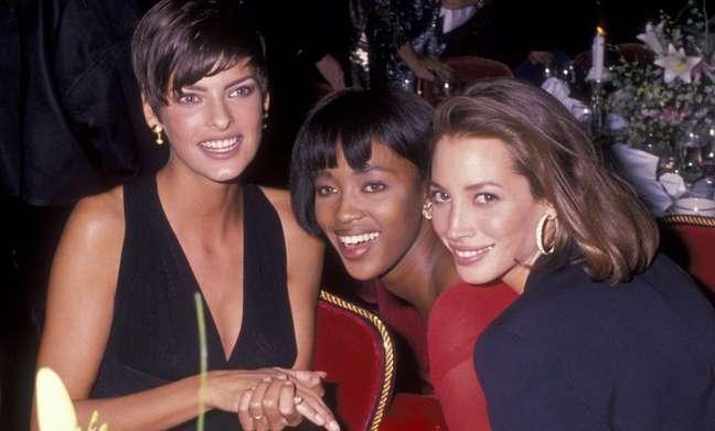 Da esquerda para a direita, em foto de 1989: Linda Evangelista, Naomi Campbell e Christy Turlington