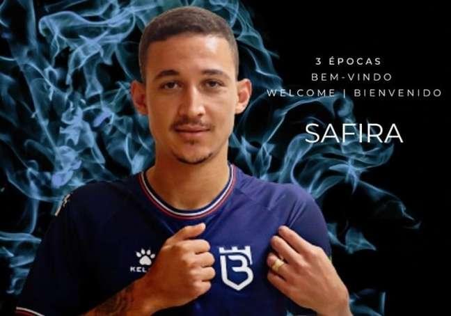 Alisson Safira quase fez seu primeiro gol pelo Belenenses (Foto: Divulgação/Belenenses SAD)