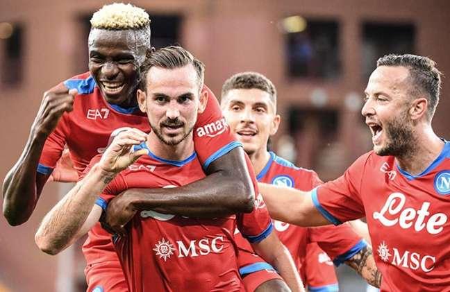 Napoli construiu grande vitória coletiva contra a Sampdoria (Foto: ANDREAS SOLARO / AFP)