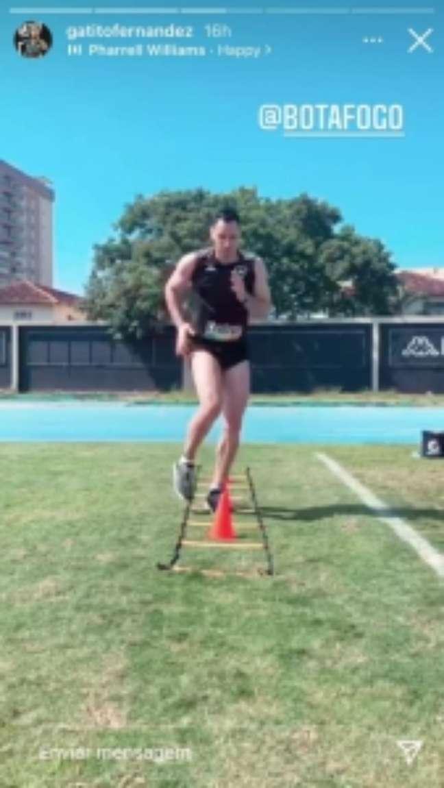 Gatito compartilhava vídeos de treino nas redes (Foto: Reprodução)