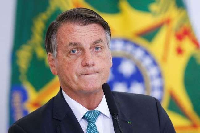 Presidente Jair Bolsonaro durante cerimônia no Palácio do Planalto 15/09/2021 REUTERS/Adriano Machado