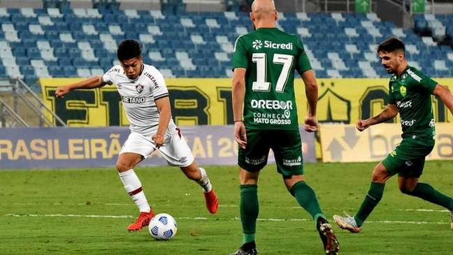Nonato teve um gol anulado na partida entre Fluminense e Cuiabá (Foto: Mailson Santana/Fluminense FC)