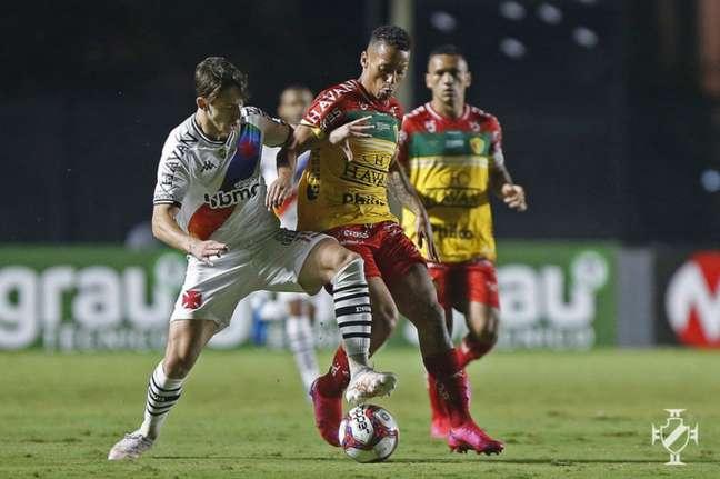 No primeiro turno, o Vasco ganhou do Brusque por 2 a 1, em São Januário (Rafael Ribeiro/Vasco)