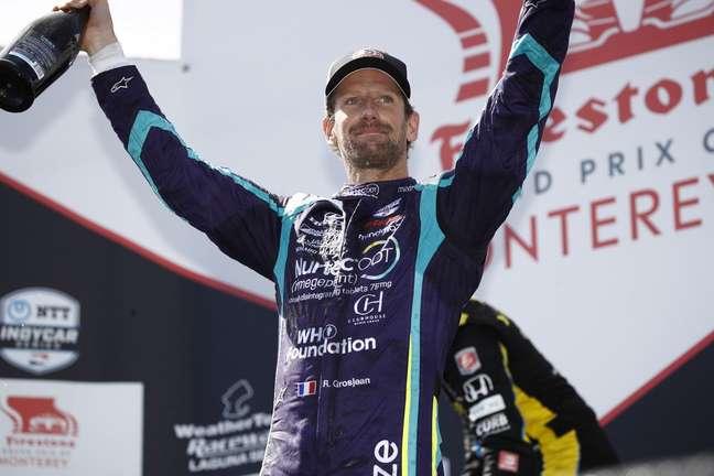 Romain Grosjean quase foi às lágrimas ao ser ovacionado pelo público em Laguna Seca