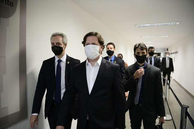 Danilo Trento chega ao Senado para depor à CPI